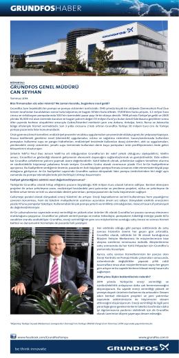 İMSAD Dergi Grundfos Türkiye Genel Müdürü Can Seyhan Röportajı