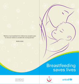 Breastfeeding saves lives