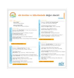 program - Türkiye Süt, Et, Gıda Sanayicileri ve Üreticileri Birliği