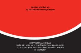 3Ç 2014 Faaliyet Raporu