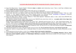Kapasite Hesabı Tablosu - Erzurum Ticaret ve Sanayi Odası