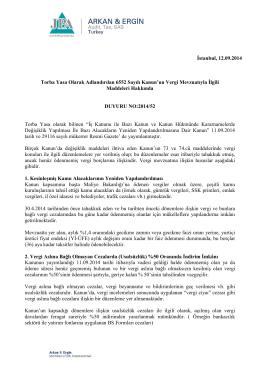 2014-52 Torba Yasa Olarak Adlandırılan 6552