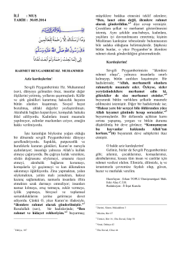 rahmet beygamberi hz. muhammed