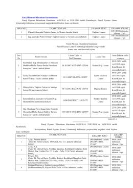Enerji Piyasası Düzenleme Kurulunun 16/01/2014 ve 23