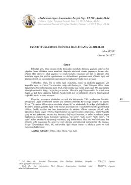 1/2 2013, Sayfa: 49-64. Xelqara Uyğur Tetqiqati Jornali, San: 1/2