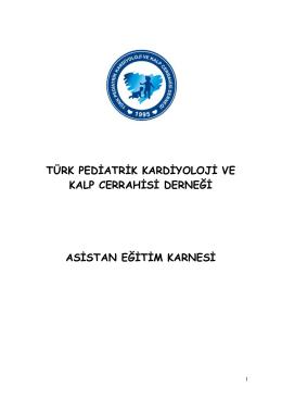 GENEL BİLGİLER - türk pediatrik kardiyoloji ve kalp cerrahisi derneği