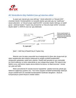 AC Sürücülerin Güç Faktörü (cos φ) üzerine etkisi