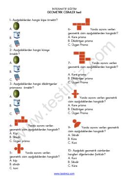 Geometrik Cisimler Test