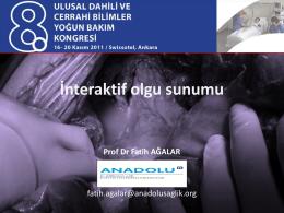 Peritonit yönetimi - Prof. Dr. Fatih Ağalar