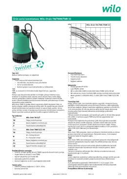 Ürün serisi tanımlaması: Wilo-Drain TM/TMW/TMR 32