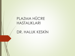 Plazma Hücre Hastalıkları