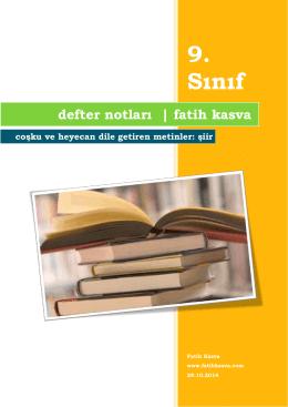 9. Sınıf [I. Dönem I. Sınav – Defter Notu]