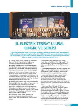 ııı. elektrik tesisat ulusal kongre ve sergisi