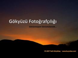 Gökyüzü Fotoğrafçılığı