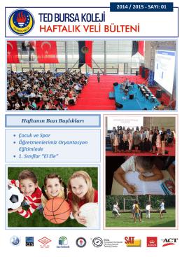 2014 / 2015 - SAYI - TED Bursa Koleji