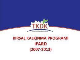 tkdk-kırsal kalkınma programı raporu