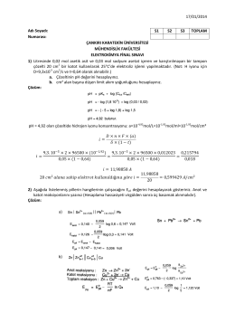 17/01/2014 Adı Soyadı: Numarası: ÇANKIRI KARATEKİN