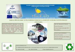 kırsal bölgelerde yenilenebilir enerji kullanımı için yenilikçi eğitim