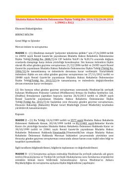 İthalatta Haksız Rekabetin Önlenmesine İlişkin Tebliğ (No: 2014/15