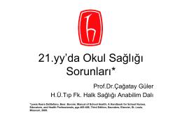 Slayt 1 - Hacettepe Üniversitesi Tıp Fakültesi Halk Sağlığı Ana Bilim