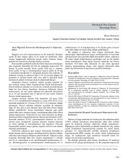 Nörolojide Öne Çıkanlar Neurology News Kaynaklar