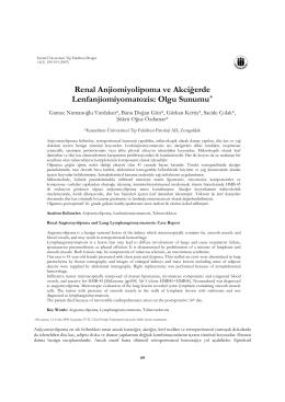 Renal Anjiomiyolipoma ve Akciğerde Lenfanjiomiyomatozis