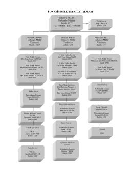 Ek A/2: Muhasebe Müdürlüğü Fonksiyonel Teşkilat Şeması