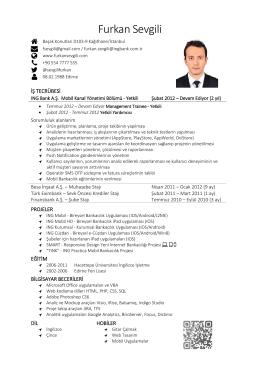 PDF - Furkan Sevgili