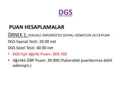 DGS(devam) - Fem Akademi