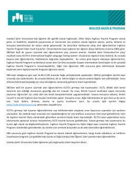 İngilizce Hazırlık - İstanbul Şehir Üniversitesi