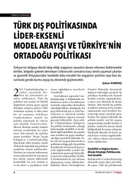 türk dış politikasında lider-eksenli model arayışı ve türkiye