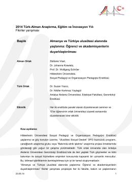 Almanya ve Türkiye uluslarötesi alanında yaşlanma