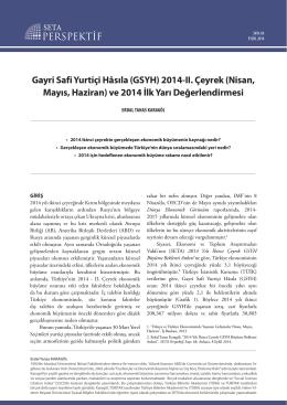 Gayri Safi Yurtiçi Hâsıla (GSYH) 2014-II. Çeyrek (Nisan