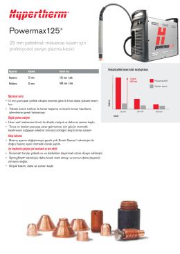 Powermax 125A - ŞahinCNC - CNC Plazma Kesim Makinaları