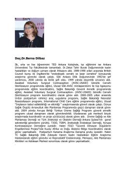 Doç.Dr.Berna Dilbaz