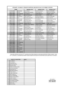 30.01.2015 26.01.2015 gölköy anadolu lisesi pansiyonları 2015
