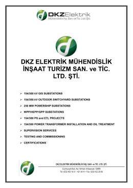presentatıon document - DKZ Elektrik Mühendislik