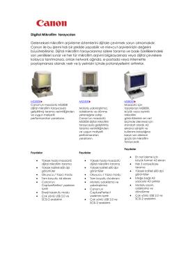 Digital Microfilm Tarayıcıları