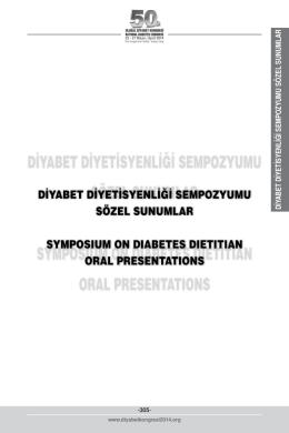 Sözlü Sunumlar - 50. Ulusal Diyabet Kongresi