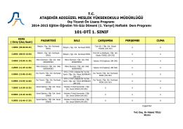 101-DTİ 1. SINIF - Ataşehir Adıgüzel Meslek Yüksekokulu