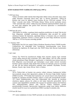 kronoloji I -sayı4-1960-1999