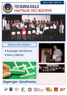 Asperger Sendromu - TED Bursa Koleji