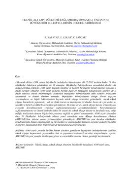 bildiri - Ulusal Mühendislik Ölçmeleri Sempozyumu - 2014