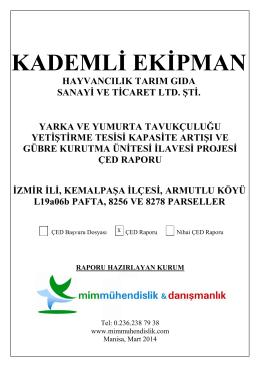 KADEMLİ EKİPMAN - Çevre ve Şehircilik Bakanlığı