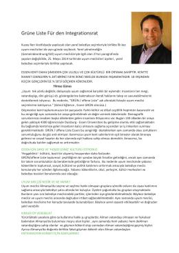 Grüne Liste Für den Integrationsrat