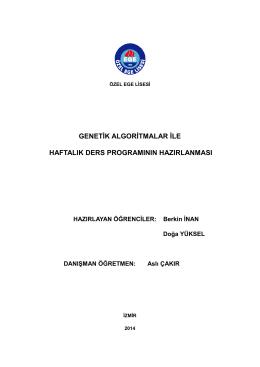 genetġk algorġtmalar ġle haftalık ders programının
