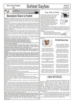 Sohbet Sayfası - bizim ivrindi gazetesi haber sitesi