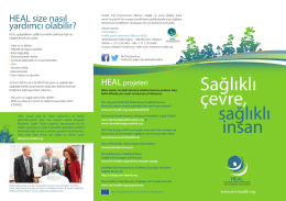 Sağlıklı çevre, - Health and Environment Alliance