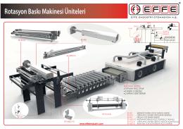 Rotasyon Baskı Makinesi Üniteleri