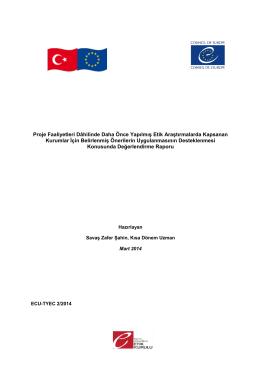 TYEC1 Etik Araştırma Eylem Planı